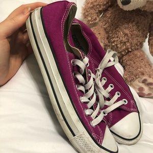 Converse Shoes - converse low tops fuschia sneakers